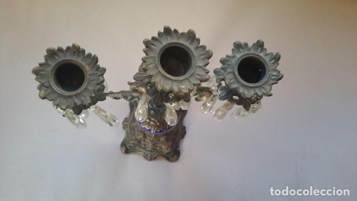 Antigüedades: Candelabro tres brazos, lagrimas de cristal - Foto 9 - 165191934
