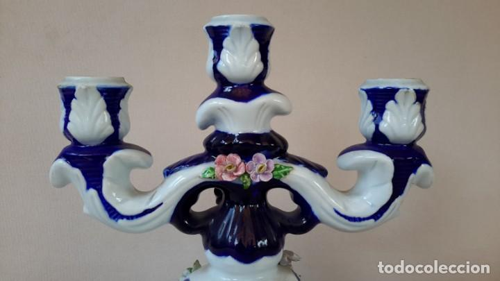 Antigüedades: Candelabro de porcelana - Foto 5 - 165193302