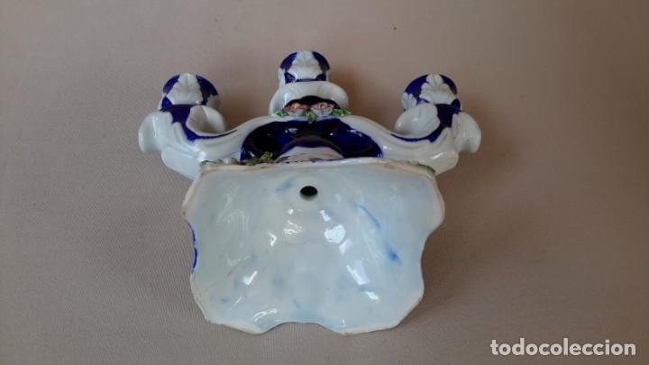 Antigüedades: Candelabro de porcelana - Foto 8 - 165193302