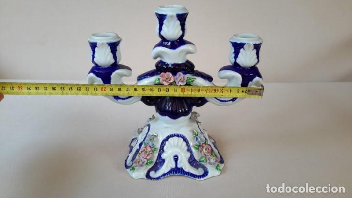 Antigüedades: Candelabro de porcelana - Foto 9 - 165193302