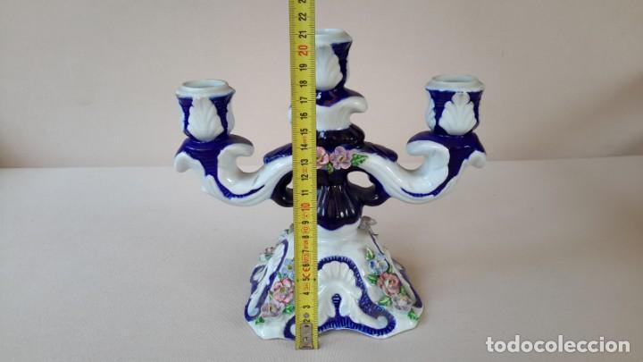 Antigüedades: Candelabro de porcelana - Foto 10 - 165193302