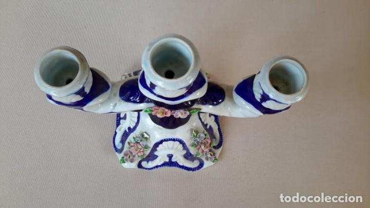 Antigüedades: Candelabro de porcelana - Foto 11 - 165193302