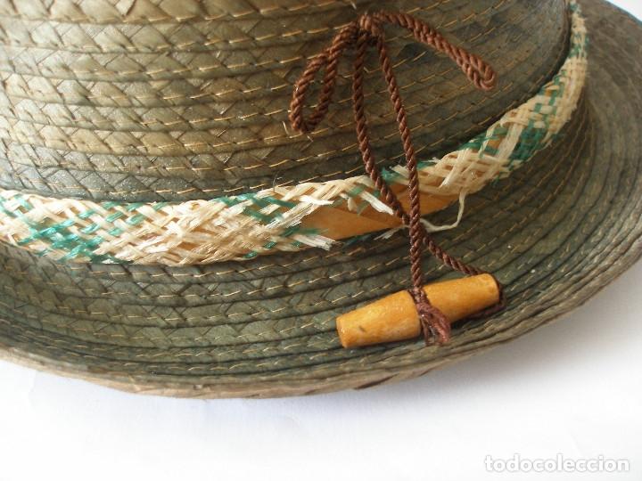 Antigüedades: Antiguo sombrero paja Barcelona años 20 sin uso con etiqueta - Foto 2 - 143186042