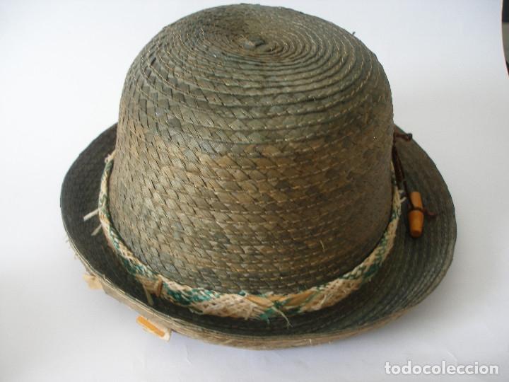 Antigüedades: Antiguo sombrero paja Barcelona años 20 sin uso con etiqueta - Foto 3 - 143186042