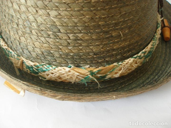 Antigüedades: Antiguo sombrero paja Barcelona años 20 sin uso con etiqueta - Foto 4 - 143186042