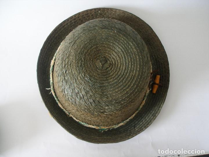 Antigüedades: Antiguo sombrero paja Barcelona años 20 sin uso con etiqueta - Foto 5 - 143186042
