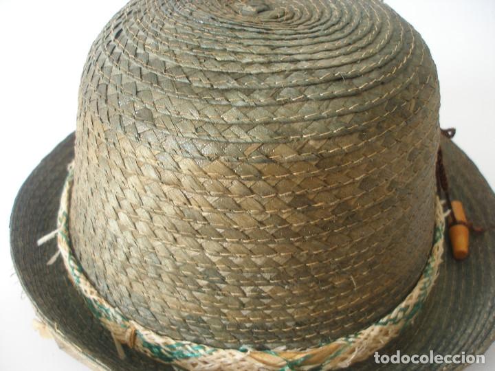 Antigüedades: Antiguo sombrero paja Barcelona años 20 sin uso con etiqueta - Foto 6 - 143186042