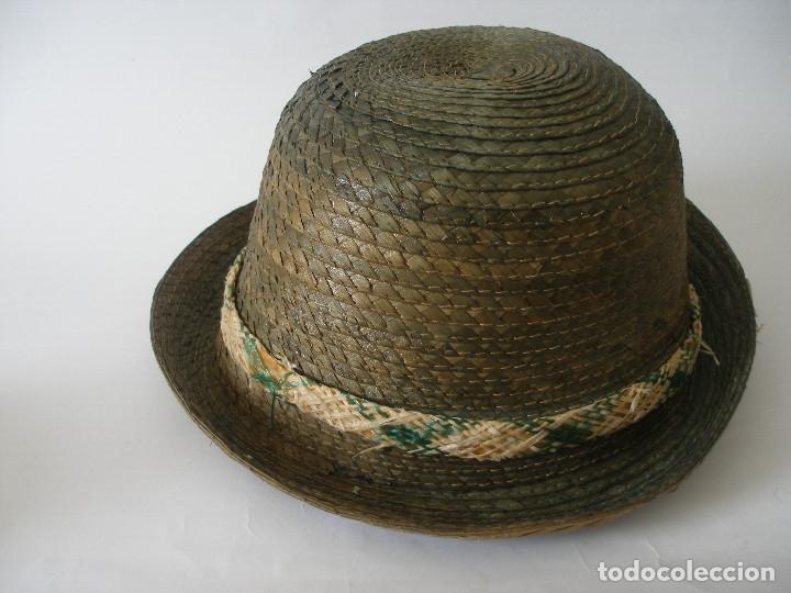 Antigüedades: Antiguo sombrero paja Barcelona años 20 sin uso con etiqueta - Foto 8 - 143186042