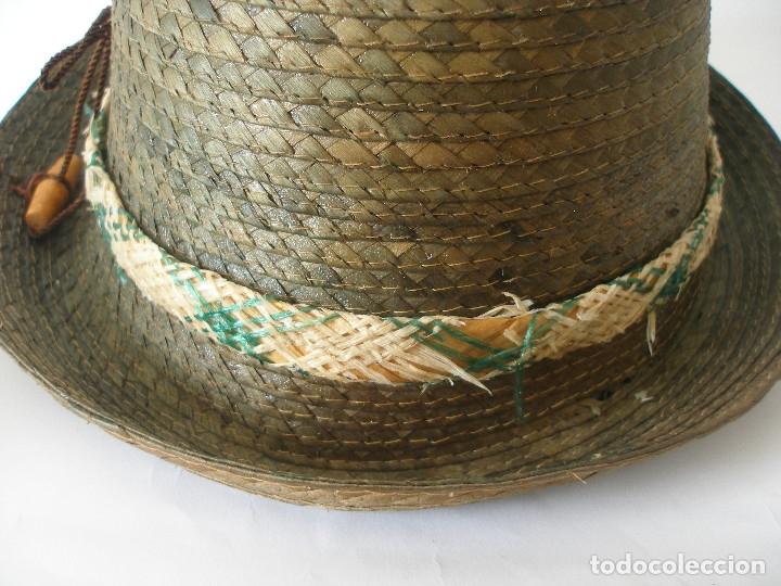 Antigüedades: Antiguo sombrero paja Barcelona años 20 sin uso con etiqueta - Foto 9 - 143186042