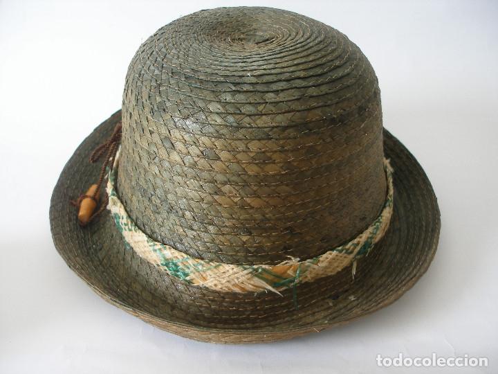 Antigüedades: Antiguo sombrero paja Barcelona años 20 sin uso con etiqueta - Foto 10 - 143186042