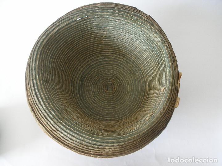 Antigüedades: Antiguo sombrero paja Barcelona años 20 sin uso con etiqueta - Foto 11 - 143186042