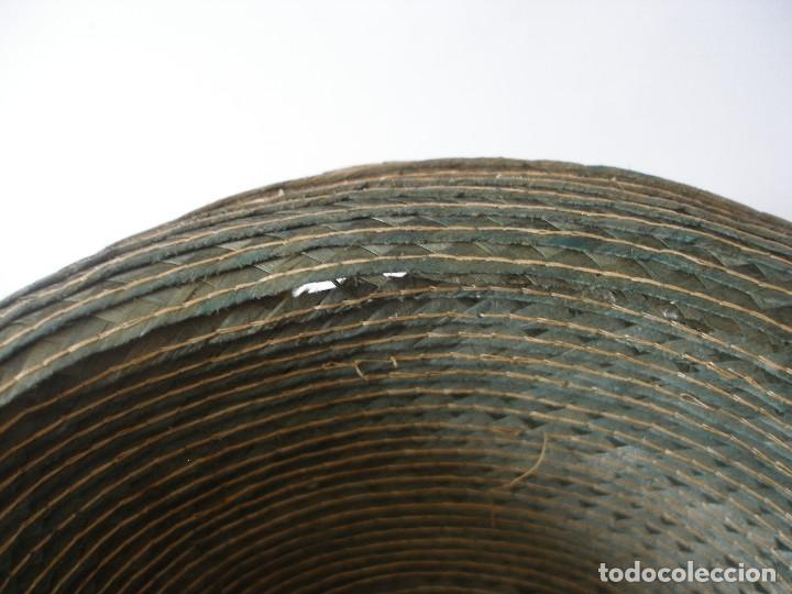 Antigüedades: Antiguo sombrero paja Barcelona años 20 sin uso con etiqueta - Foto 12 - 143186042