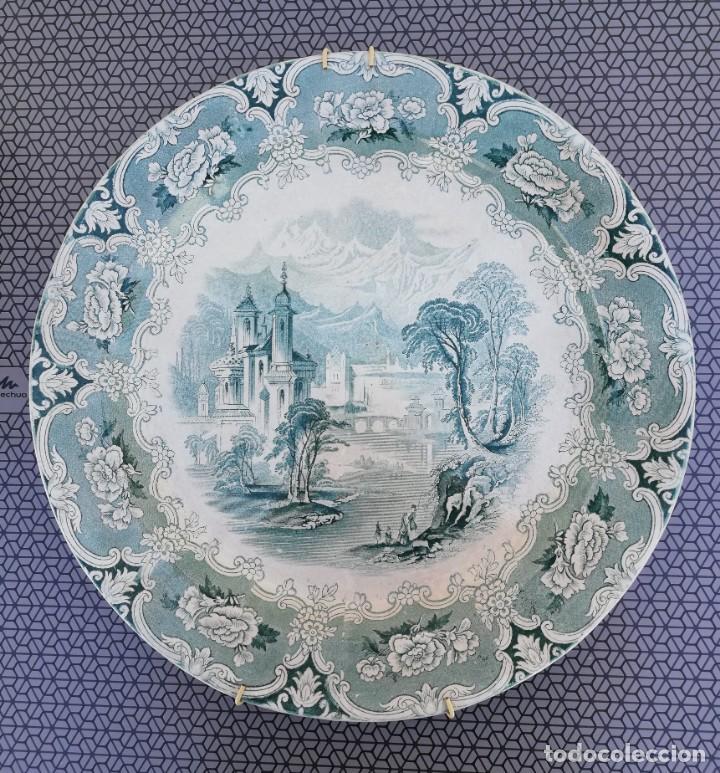 PLATO DE CERÁMICA INGLESA - IRONSTONE - J. CLEMENTSON (Antigüedades - Porcelanas y Cerámicas - Inglesa, Bristol y Otros)