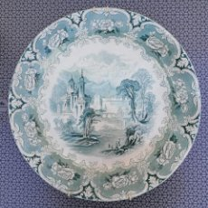 Antigüedades: PLATO DE CERÁMICA INGLESA - IRONSTONE - J. CLEMENTSON. Lote 165207454