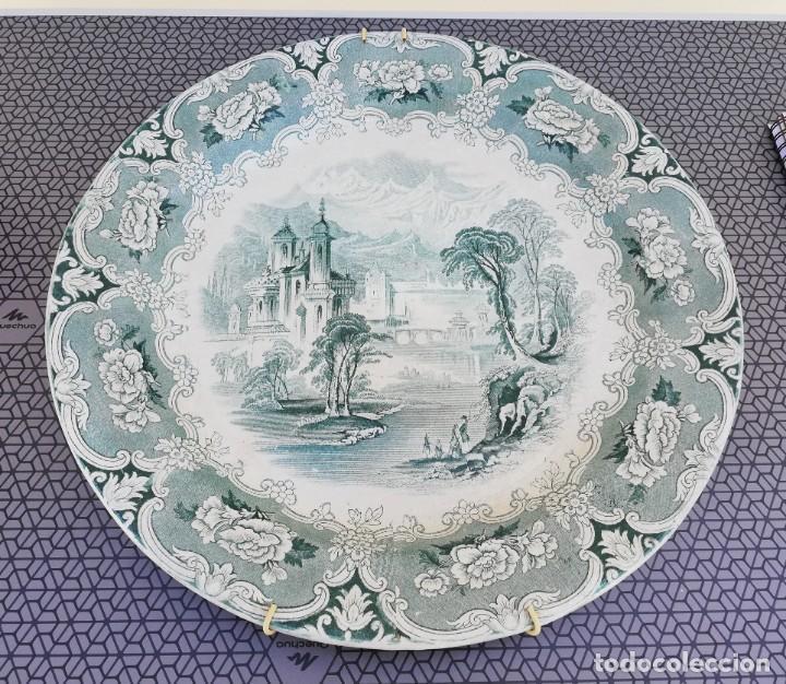Antigüedades: Plato de cerámica inglesa - IRONSTONE - J. CLEMENTSON - Foto 2 - 165207454