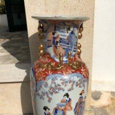 Antigüedades: JARRÓN MUY GRANDE DE CERÁMICA CHINA, CON SELLO.. Lote 165229826