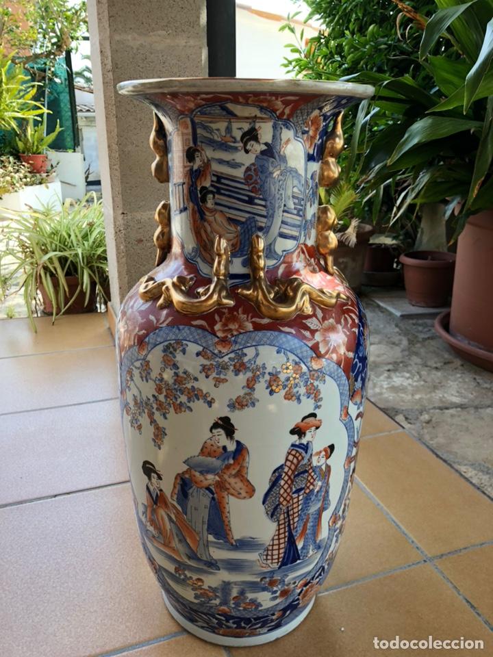 Antigüedades: Jarrón muy grande de cerámica china, con sello. - Foto 2 - 165229826