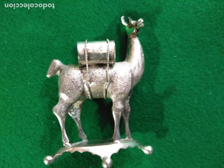 Antigüedades: ANTIGUA PRECIOSA LLAMA PLATA 925 MACIZA de ley 93 gm. magnifica pieza de orfebreria colección - Foto 2 - 165236802