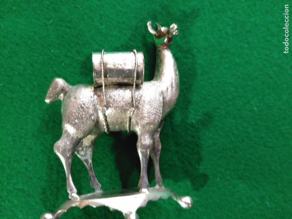 Antigüedades: ANTIGUA PRECIOSA LLAMA PLATA 925 MACIZA de ley 93 gm. magnifica pieza de orfebreria colección - Foto 3 - 165236802
