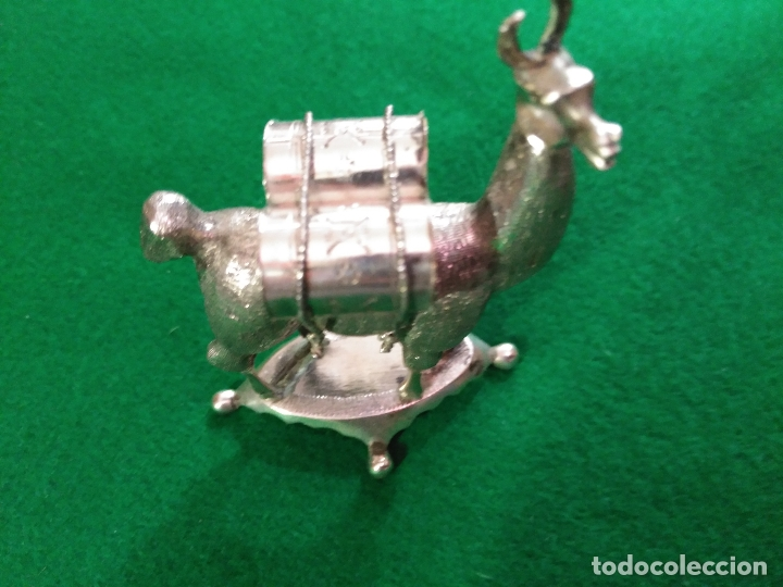 Antigüedades: ANTIGUA PRECIOSA LLAMA PLATA 925 MACIZA de ley 93 gm. magnifica pieza de orfebreria colección - Foto 5 - 165236802