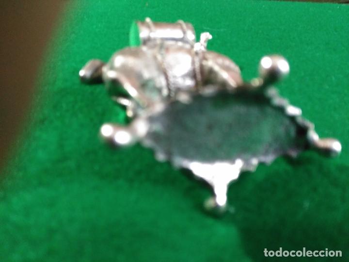 Antigüedades: ANTIGUA PRECIOSA LLAMA PLATA 925 MACIZA de ley 93 gm. magnifica pieza de orfebreria colección - Foto 6 - 165236802