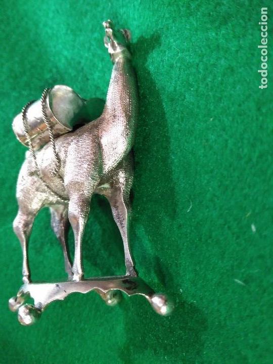 Antigüedades: ANTIGUA PRECIOSA LLAMA PLATA 925 MACIZA de ley 93 gm. magnifica pieza de orfebreria colección - Foto 7 - 165236802