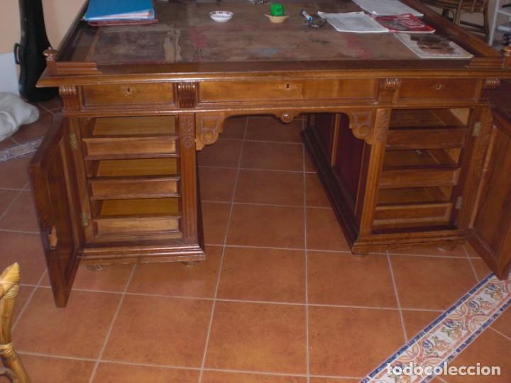 Mesa Despacho Madera De Nogal Con Puertas Y Ca Comprar Mesas De