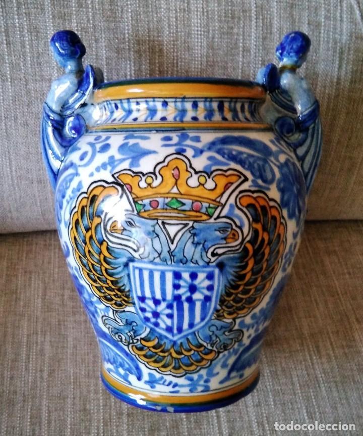 ANTIGUO JARRON DE TALAVERA, MANISES (Antigüedades - Porcelanas y Cerámicas - Manises)