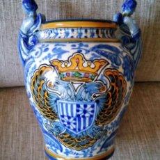 Antigüedades: ANTIGUO JARRON DE TALAVERA, MANISES. Lote 194865956