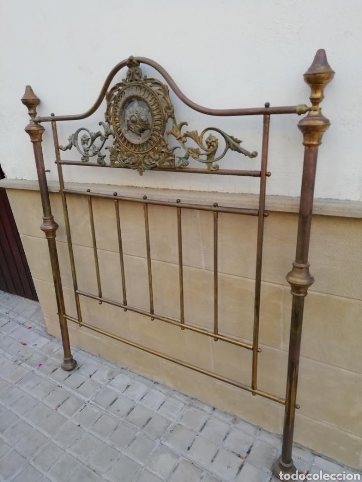 Antigüedades: Antiguo cabecero de cama dorado - Foto 2 - 165254404
