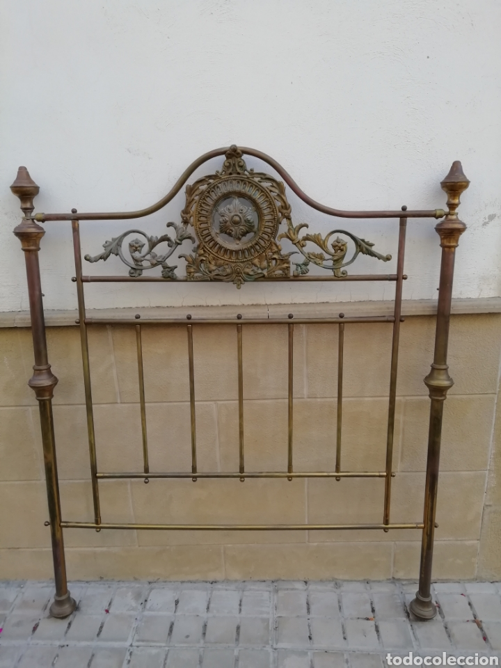 Antigüedades: Antiguo cabecero de cama dorado - Foto 3 - 165254404