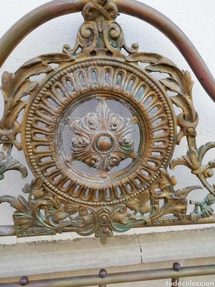 Antigüedades: Antiguo cabecero de cama dorado - Foto 4 - 165254404