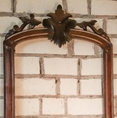 Antigüedades: MARCO DE ESPEJO ISABELINO DE CAOBA, SIGLO XIX, DITADA. Lote 165261242