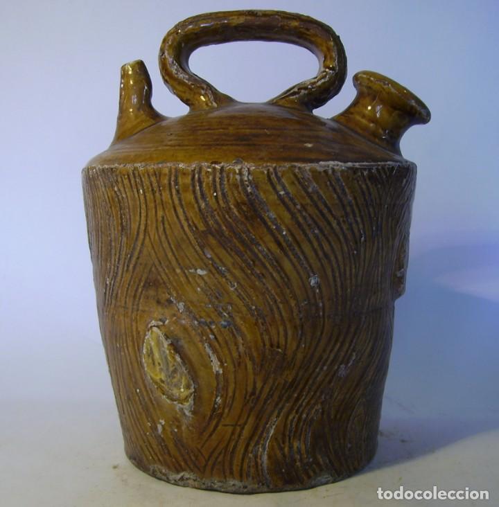 BOTIJO TERRISSA CATALANA DE TRONCO XIX – XX (Antigüedades - Porcelanas y Cerámicas - Catalana)