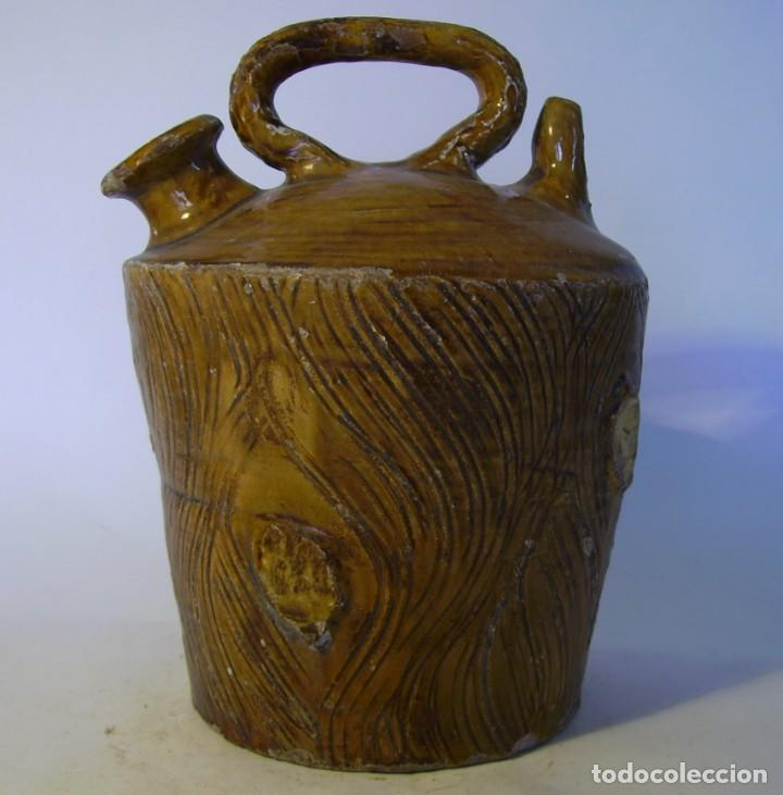Antigüedades: BOTIJO TERRISSA CATALANA DE TRONCO XIX – XX - Foto 2 - 165291818