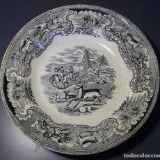 Antigüedades: PLATO PORCELANA DE CARTAGENA XIX . Lote 165292738