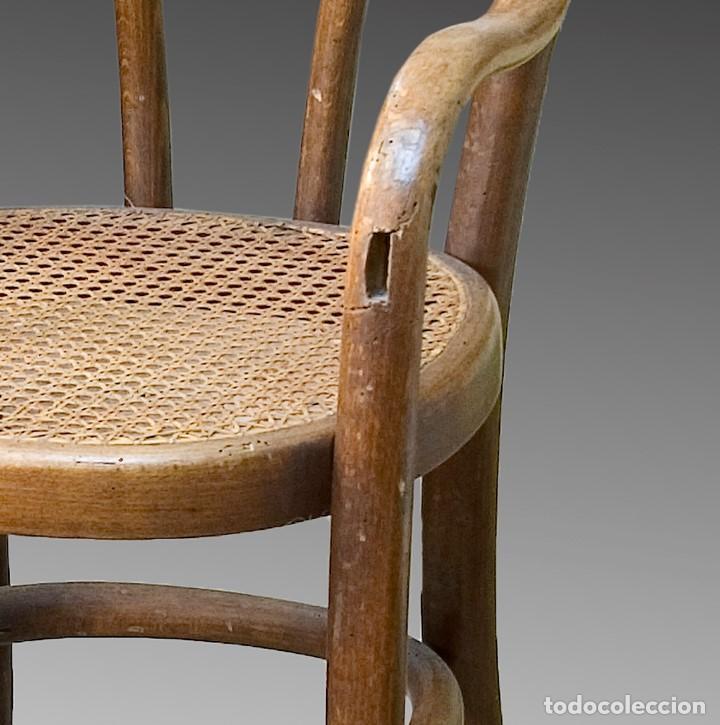 Antigüedades: Silla infantil. Madera. Siglo XIX. - Foto 4 - 165308978