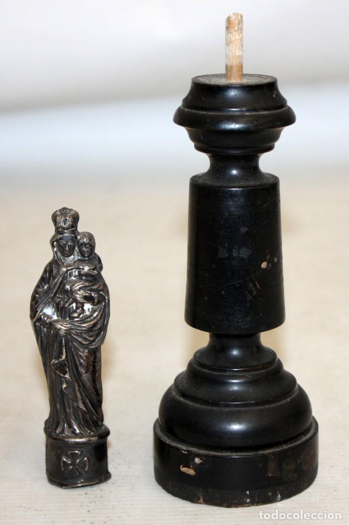 Antigüedades: VIRGEN DEL PILAR EN PLATA DEL SIGLO XIX - Foto 4 - 165313674
