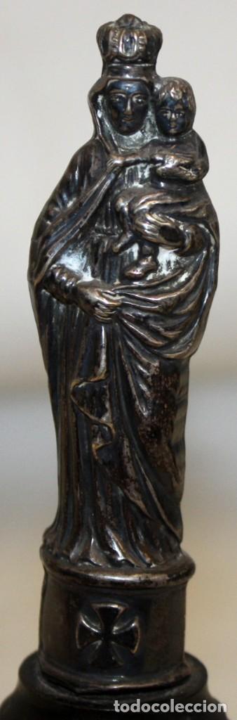 Antigüedades: VIRGEN DEL PILAR EN PLATA DEL SIGLO XIX - Foto 5 - 165313674
