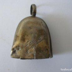 Antigüedades: ANTIGUO SONAJERO CAMPANILLA EN PLATA. Lote 165313722