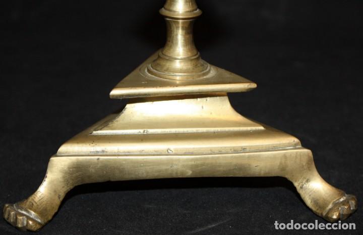 Antigüedades: CRUCIFIJO EN BRONCE DEL SIGLO XVIII - Foto 10 - 165314406