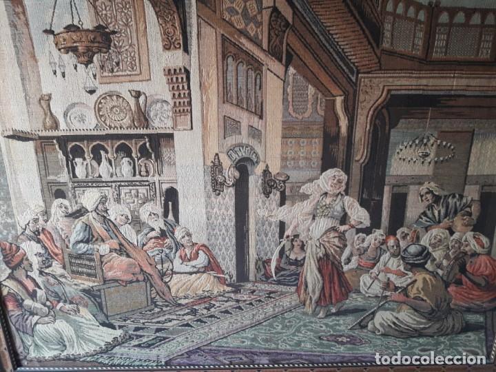 Antigüedades: Tapiz escena morisca - Foto 6 - 165316022