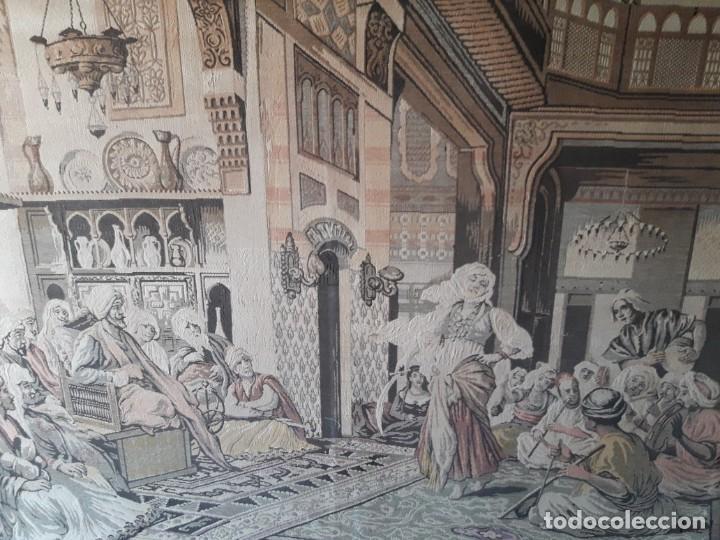 Antigüedades: Tapiz escena árabe - Foto 4 - 165317294