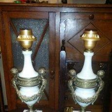 Antigüedades: MARAVILLOSA PAREJA DE LAMPARAS IMPERIO. Lote 165320770