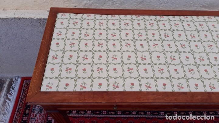 Antigüedades: Gran consola antigua estilo Luis XVI. 117 cm. Mesa auxiliar antigua estilo inglés. - Foto 11 - 165322062