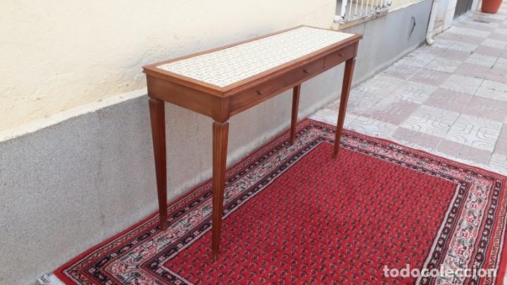 Antigüedades: Gran consola antigua estilo Luis XVI. 117 cm. Mesa auxiliar antigua estilo inglés. - Foto 14 - 165322062