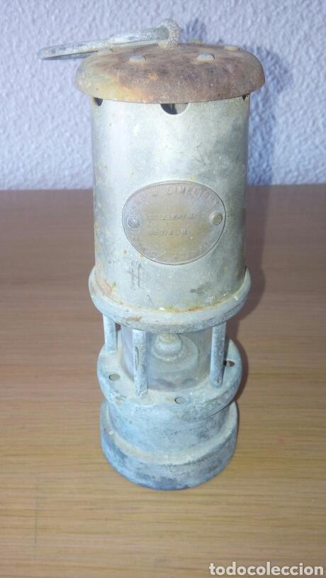 ANTIGUA LAMPARA FAROL DE MINERO *LAMP & LIMELIGHT* COLLIERY (Antigüedades - Iluminación - Faroles Antiguos)
