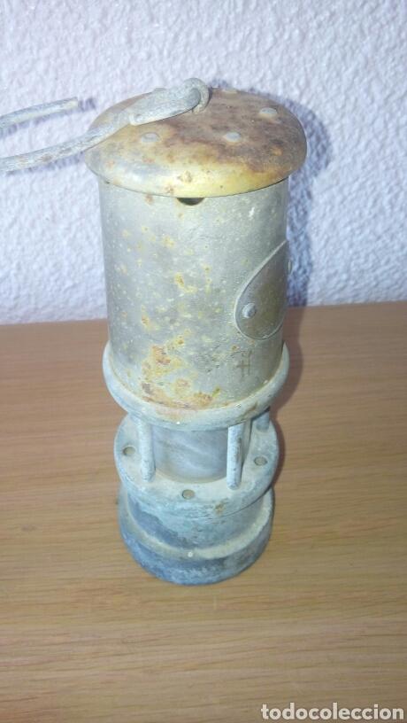 Antigüedades: ANTIGUA LAMPARA FAROL DE MINERO *LAMP & LIMELIGHT* COLLIERY - Foto 2 - 165325872