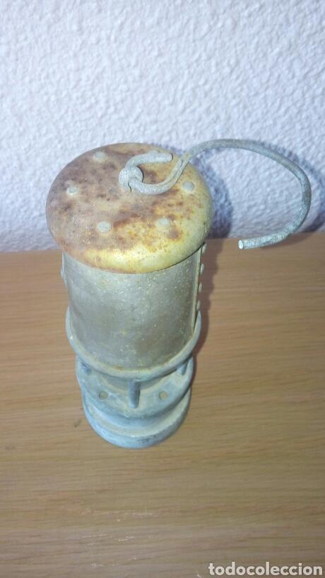 Antigüedades: ANTIGUA LAMPARA FAROL DE MINERO *LAMP & LIMELIGHT* COLLIERY - Foto 3 - 165325872