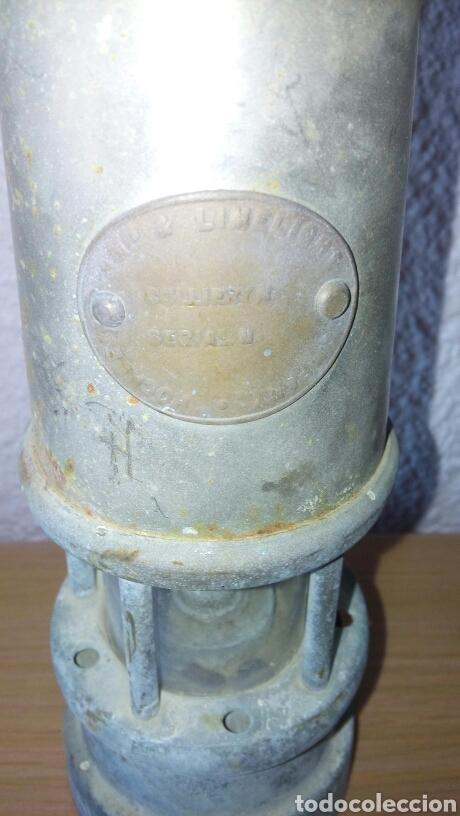 Antigüedades: ANTIGUA LAMPARA FAROL DE MINERO *LAMP & LIMELIGHT* COLLIERY - Foto 5 - 165325872